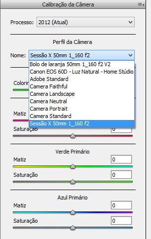 Calibração de câmera no ACR